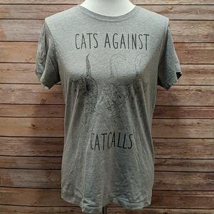 Cat Against Catcalls Graphic Tee